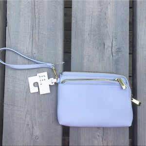 A New Day Lilac Gold Accented Wristlet/Wallet